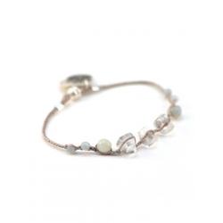 Bracelet Perlé vieux rose