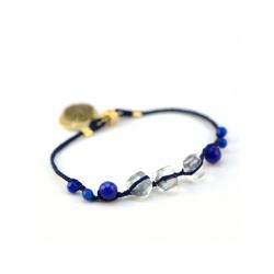Bracelet Perlé bleu