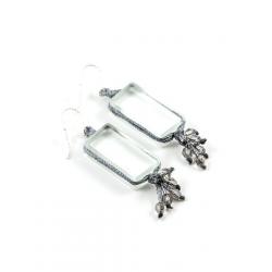 Boucles d'oreilles Perlées Zen grises