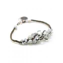 Bracelet Aurore lin kaki