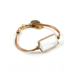 Bracelet Zen cuir bronze pur