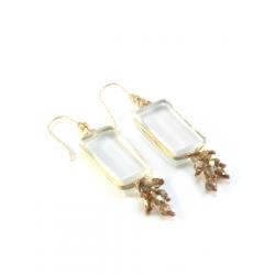 Boucles d'oreilles Perlées Zen beiges