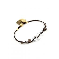 Bracelet Perlé chocolat