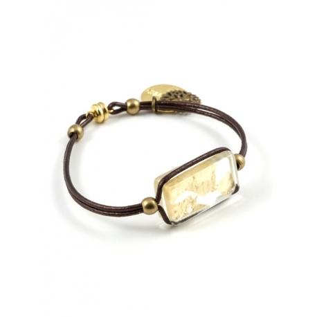 Bracelet Zen d'Or chocolat