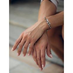 Bracelet Perlé gris