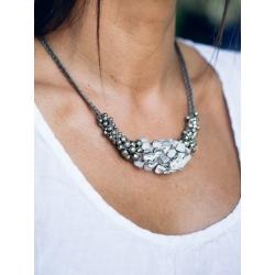 Collier Diva kaki pyrites